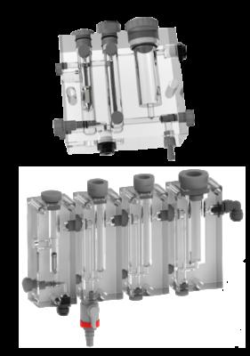 Chambre de mesure modulaire ou monobloc PMMA : temperature, chlore, pH, redox, débit