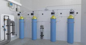 Salle de chlore gazeux