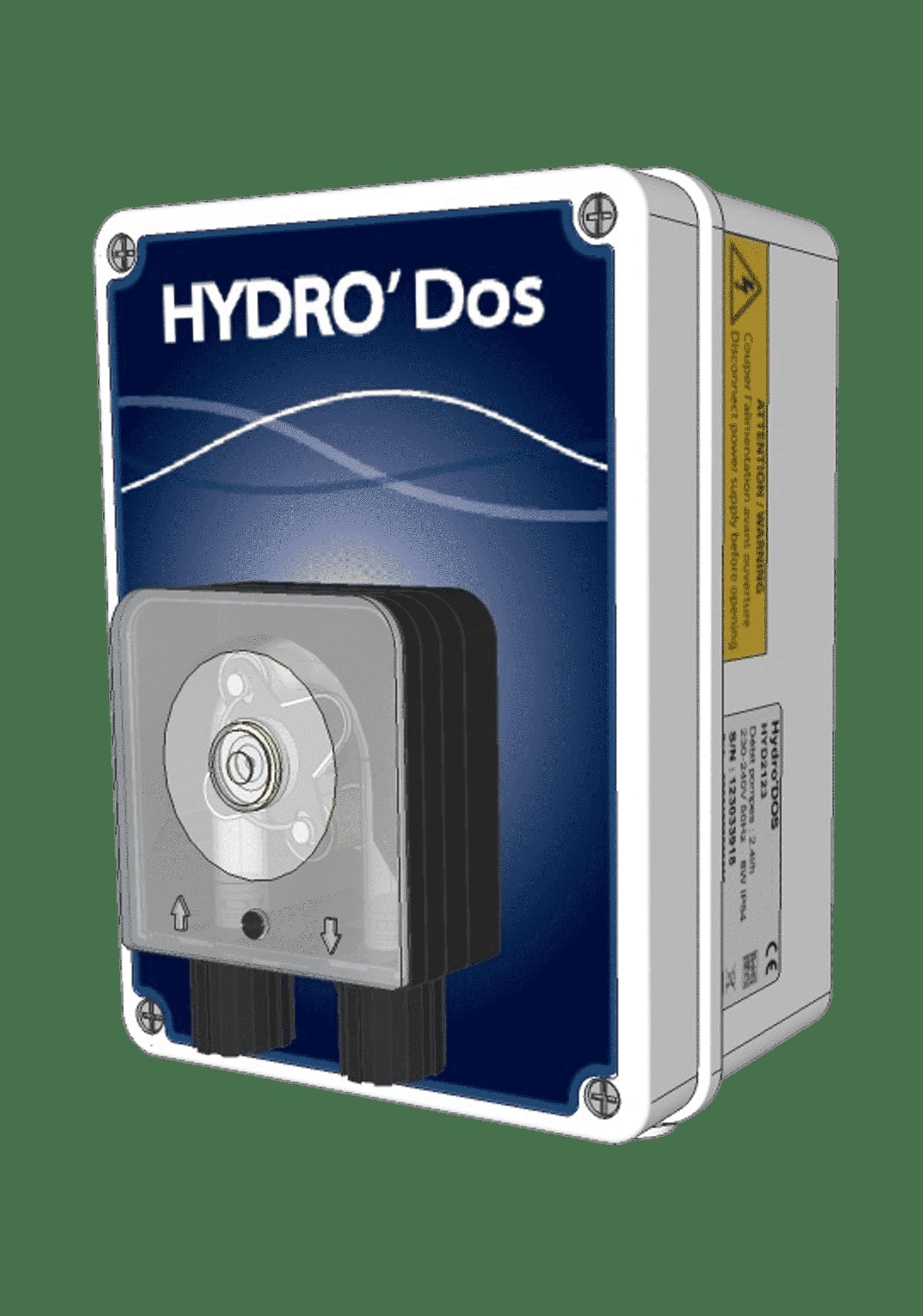 HYDRO'Dos : dosage avec pompes péristaltiques de tout type de produits : produits chimiques, floculants, substances aromatiques