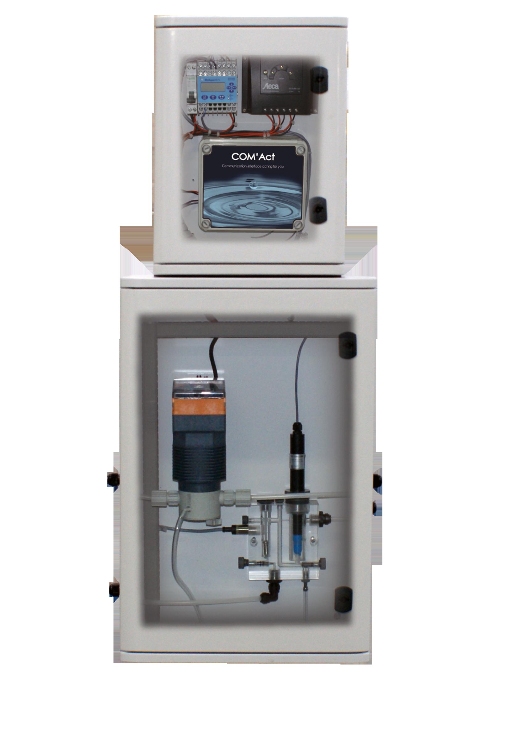 SAWS : analyses et régulations de l'eau pour sites isolés - equipement avec panneaux solaires