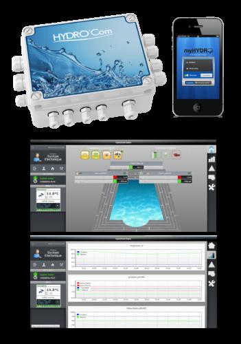 hydrocom : controle à distance pour piscine privée