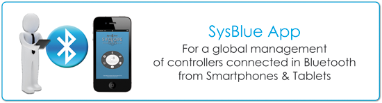 SYSBLUE application for a global control of controller from Smartphone
