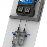 Controle de la qualite de l'eau piscines privees : analyse et regulation du PH et Redox monté sur panneau
