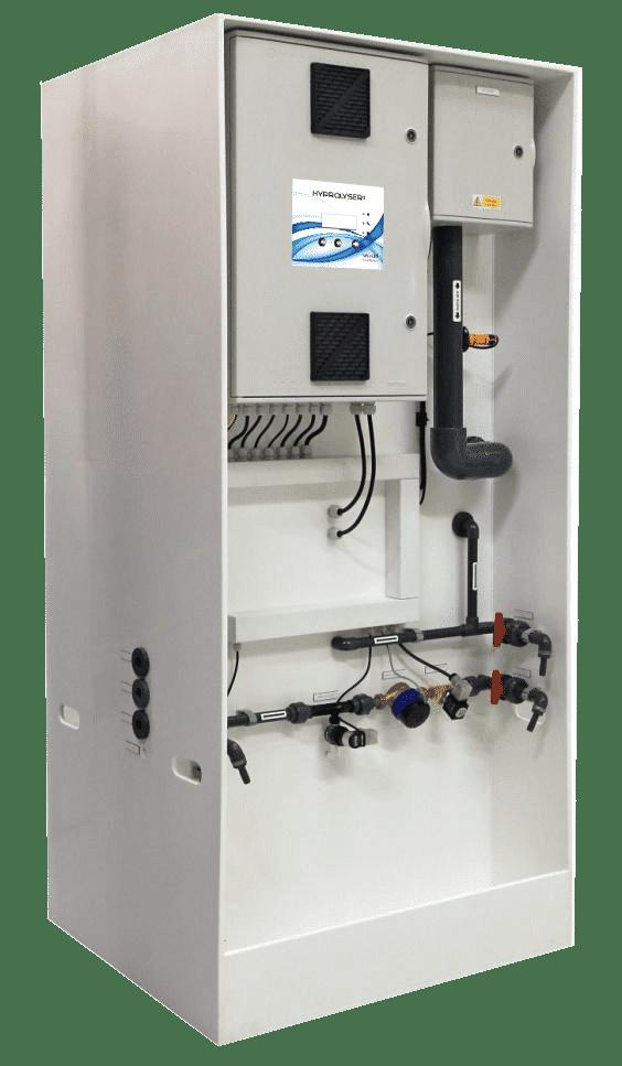 generation de chlore sur site par electrolyse de sel pour piscine