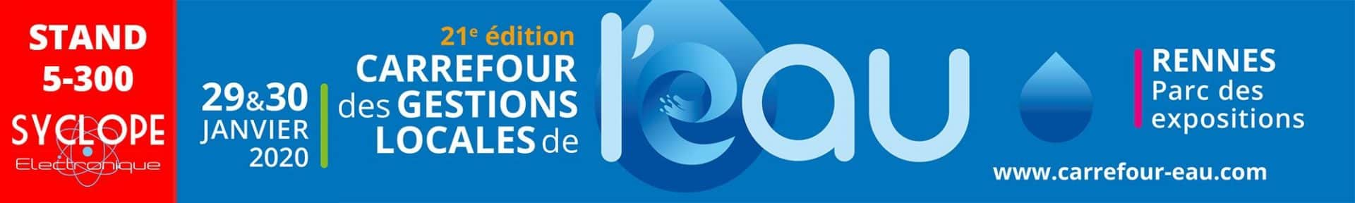 Salon Carrefour de l'eau 2020 - stand SYCLOPE 5-300