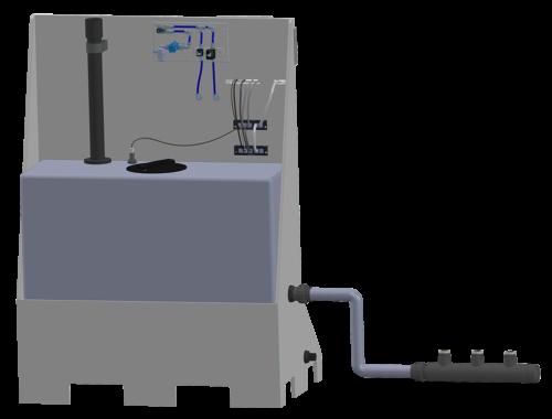 Electrolyseur SYCLOPE compact avec nourrice d'aspiration
