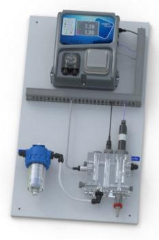 Panneau HYDRO pH/ Chlore prise pour contrôle et gestion d'un électrolyseur